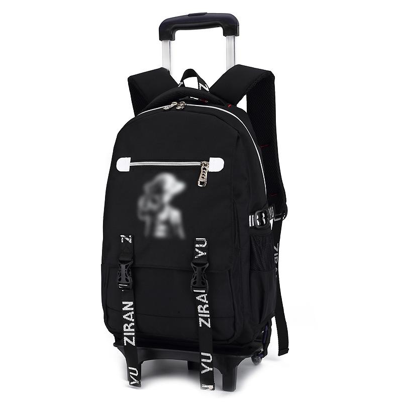 Junior Student Trolley School Bag Six Rounds Backpack OTH3