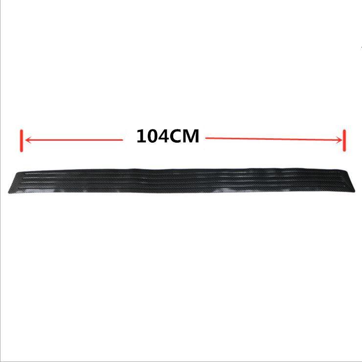 104cm Length Black Nonslip Rear Trunk Tray Boot Cargo Floor Lid Strip for Car