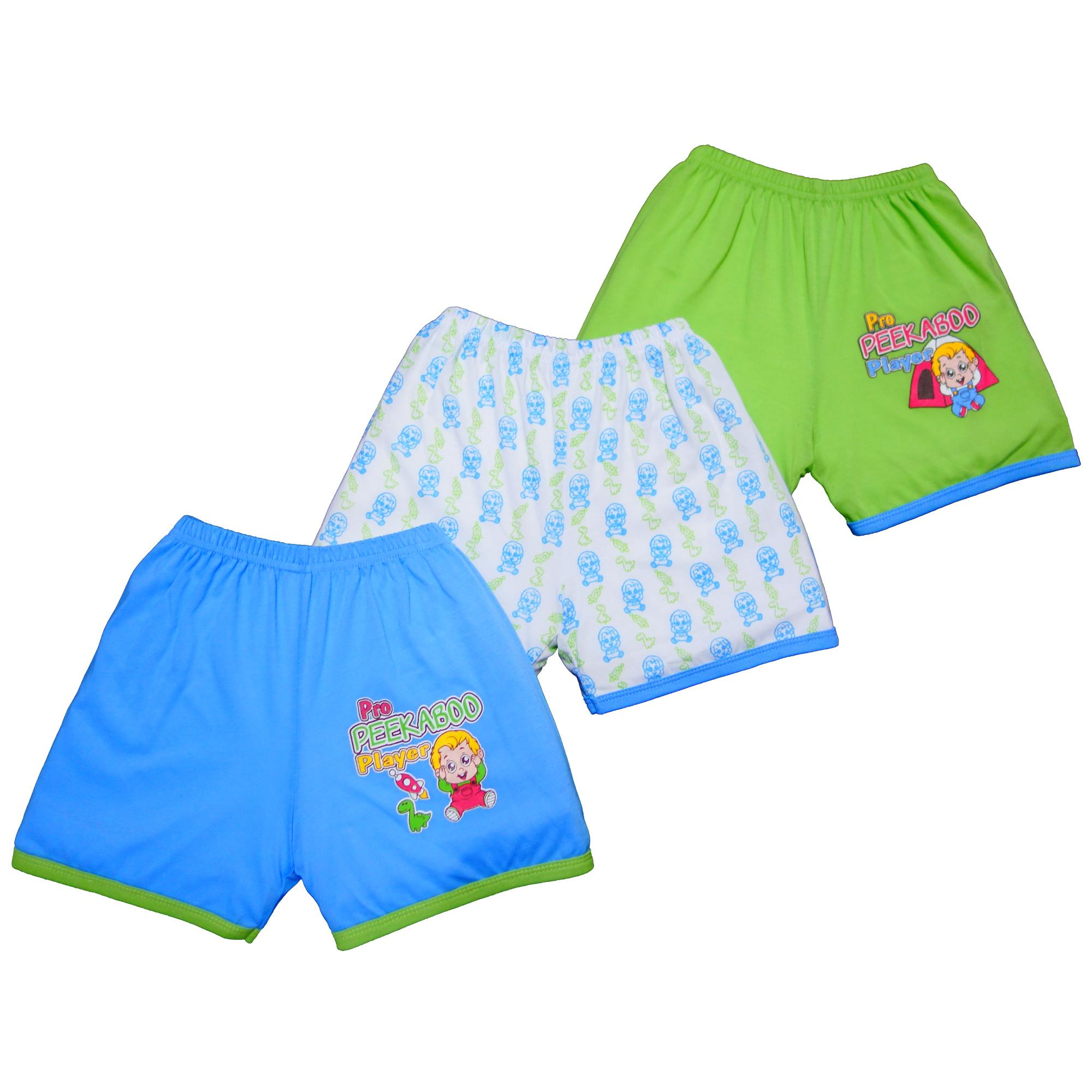 Froshie 3-Piece Baby Cotton Shorts (peekaboo) By Froshie.