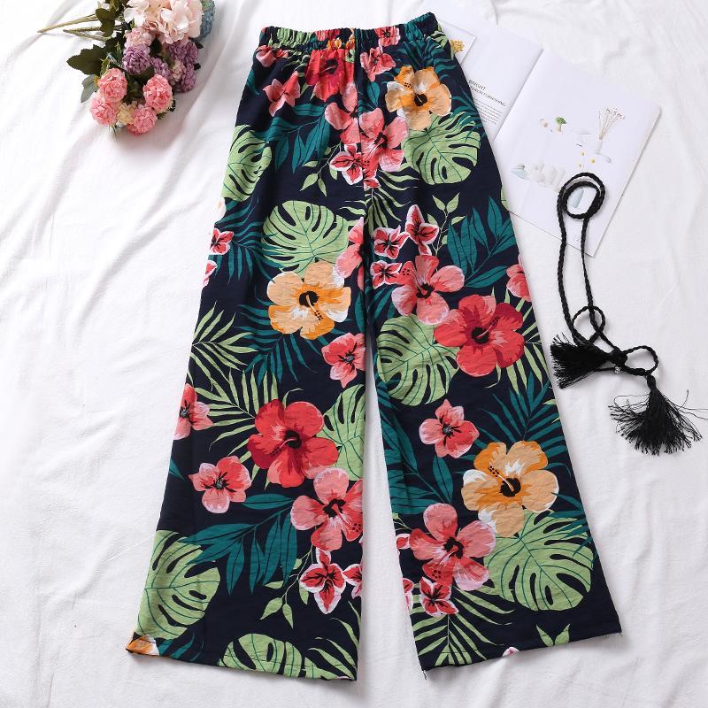 f696461f2 Printed Chiffon Loose Pants Female Summer 2018 New Style Korean Style Loose  Versatile Slimming CHIC High