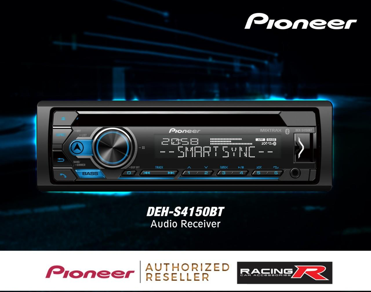 Pioneer DEH-S4150BT Audio Car Stereo Receiver ( Car Accessories )