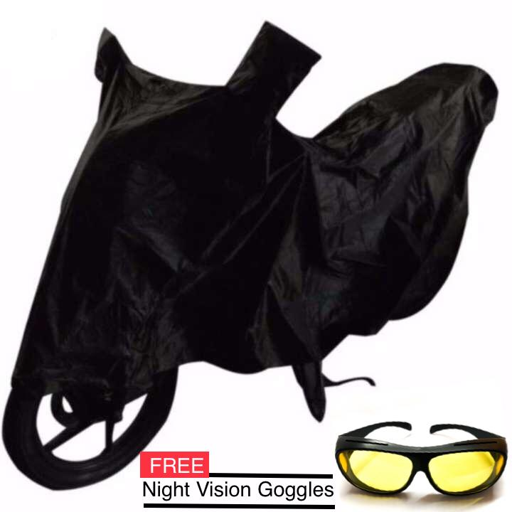 Waterproof Motorcycle Cover With Carrying Bag (Large) FREE Night Vision Goggles image