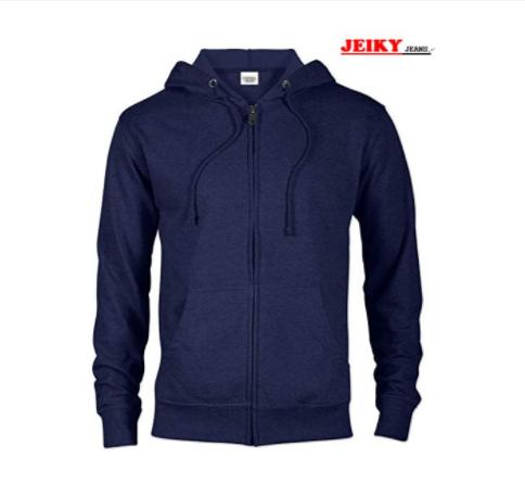 Mens Lightweight Fitted Full Zip Hoodie By Wells Trading.