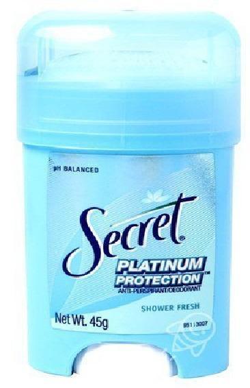 SECRET DEODORANT PLATINUM PROTECTION SHOWER FRESH 45 g