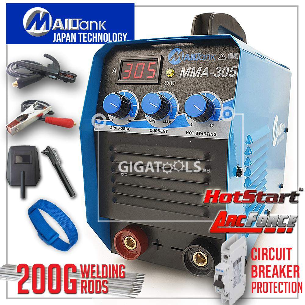 New MailTank MMA-305 305A with Hot Start and ARC Force Inverter IGBT ARC  Welding Machine with 200grams welding rods