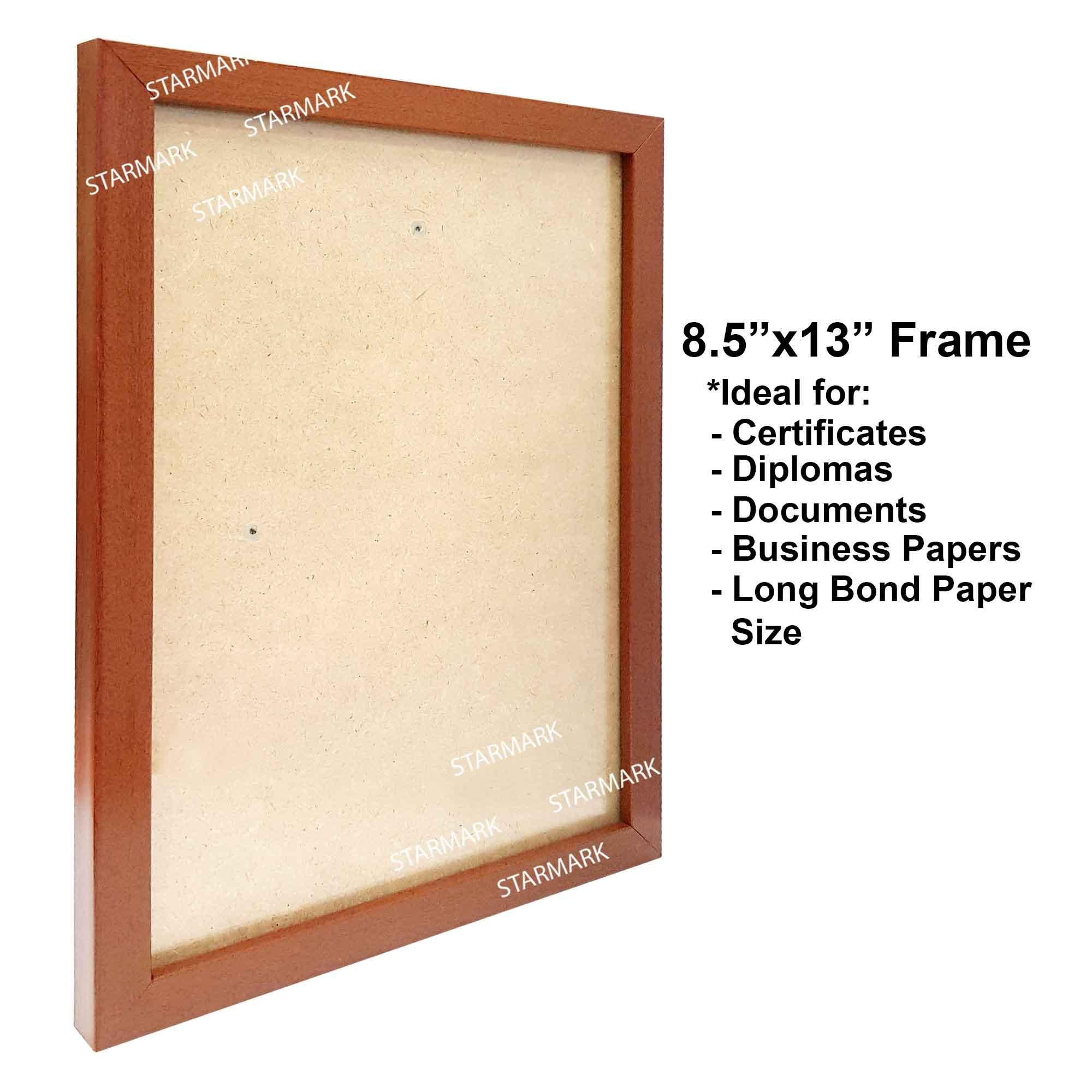 1f7e924ac70 Starmark Certificate Document Picture Frame Frames 8.5x13 inches - Long  Bond Paper Size - Mid