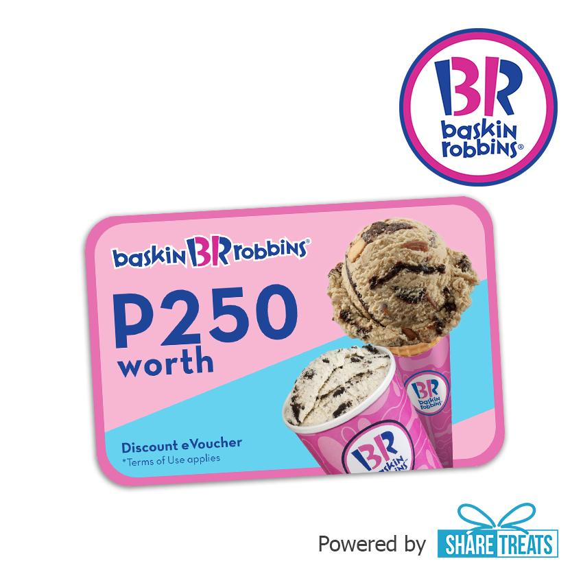 Baskin Robbins P250 Worth Voucher (sms Evoucher) By Share Treats.