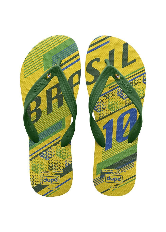 c2af59248 Dupe Selecoes Brasil Flip Flops Unisex (Yellow) - 412
