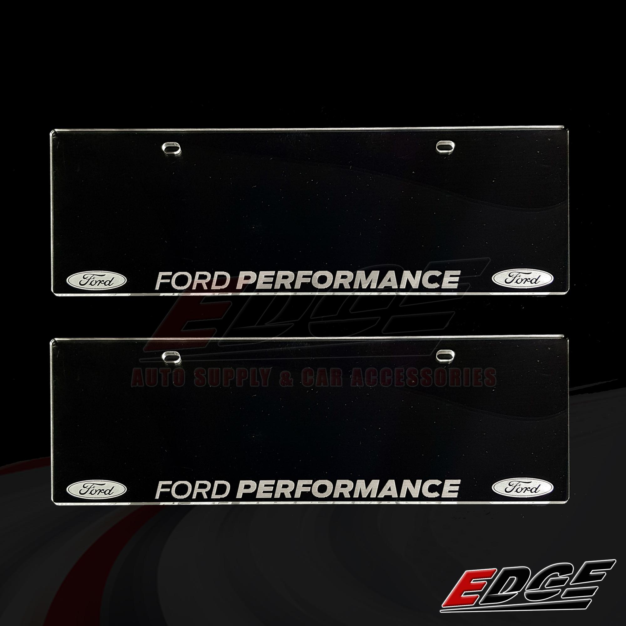 0ec506e3edc (Engraved) FORD PERFORMANCE Clear License Plate Cover 2pcs set    universal  acrylic