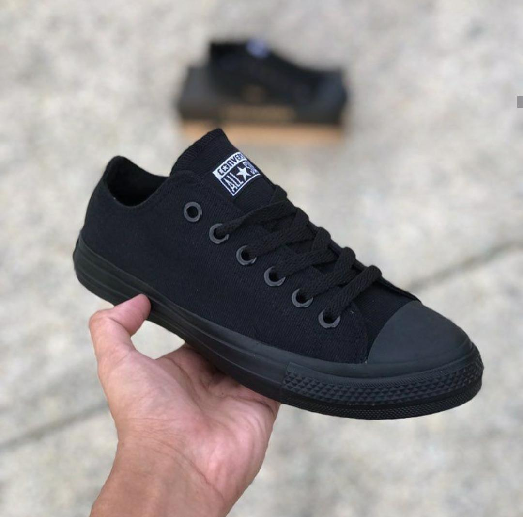 Converse all Star Shoes Low Cut (all black) Women For Men Shoes