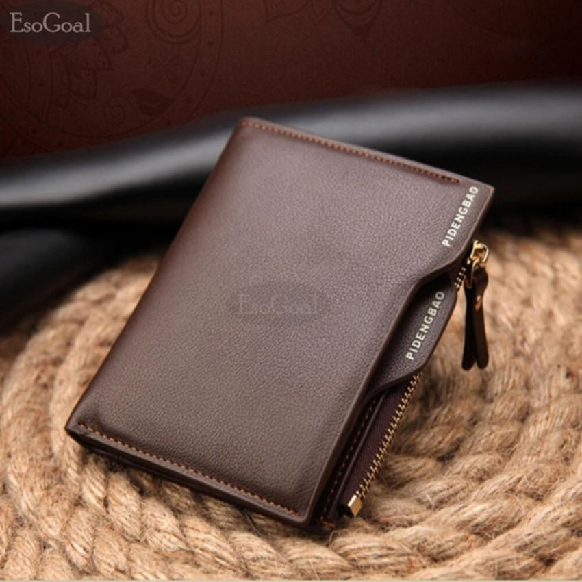 db14413c19f027 EsoGoal Business Men Wallets Solid Man PU Leather Purse Long Bifold Wallet  Portable Cash Coin Purses