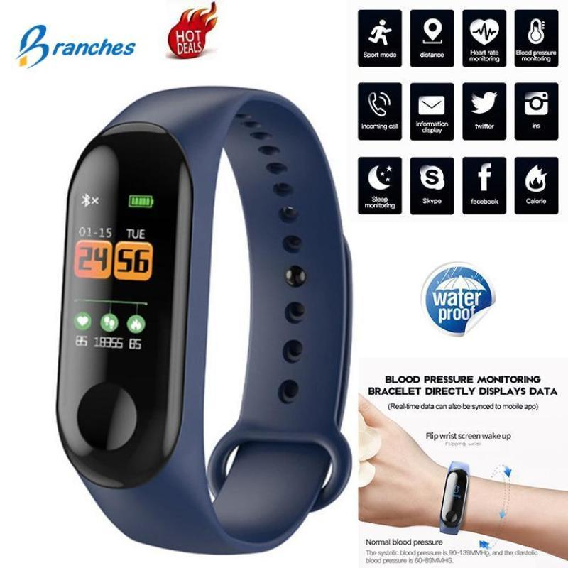 26bfdb77810 Original M3 Smart Band 3 Colors Fitness Activity Tracker Band Life  Waterproof 0.96 Inch OLED Touch