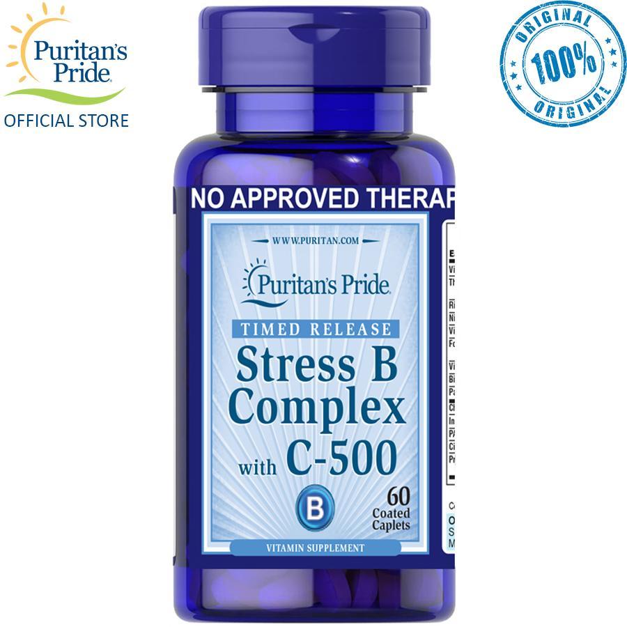 Puritan's Pride Stress Vitamin B Complex & Vitamin C 500mg 60 caplets