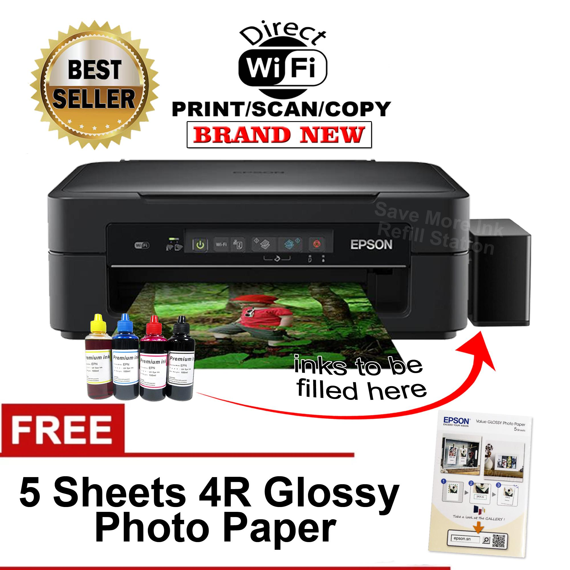 Epson XP-255 Wi-Fi & Wi-Fi Direct w/ CiSS & Dye ink