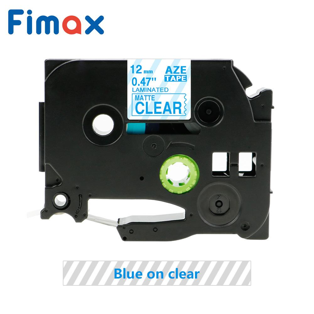 12mm Blue on Matt Clear Label Tape for Brother P-Touch TZ M33 TZe M33 PT-1400 8M