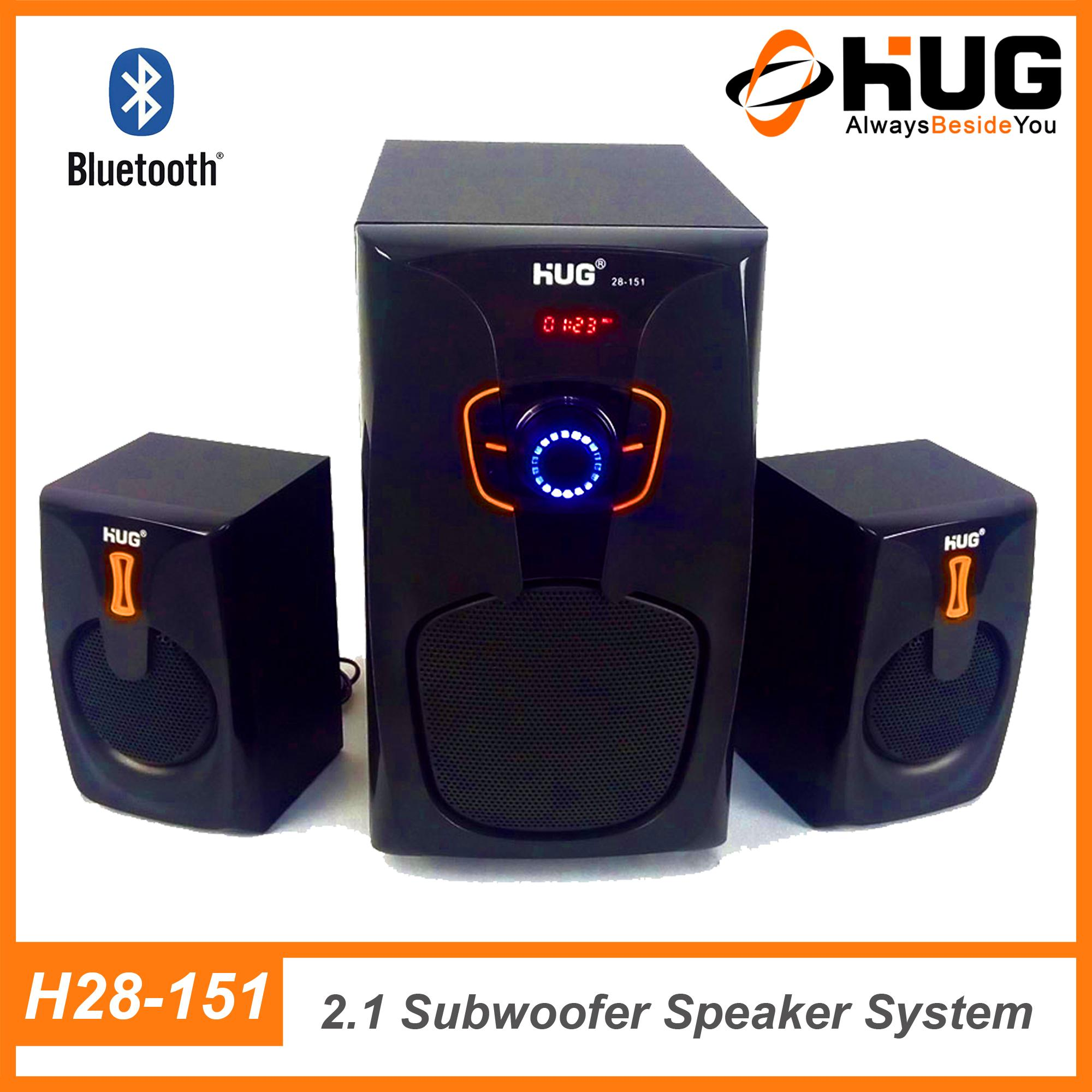 Hug H28-151 2.1 Channel Bluetooth Home Theater Multimedia Speaker Subwoofer By Hug Official Store.