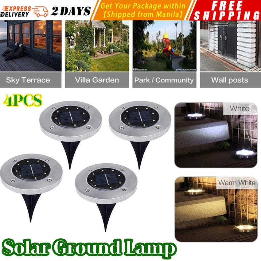 Solar Lamps Lights & Lighting 9led Solar Lawn Lamp Outdoor Pin Lamp Buried Lamp Path Way Garden Decoration Light Waterproof Outdoor Garden Stair Lights