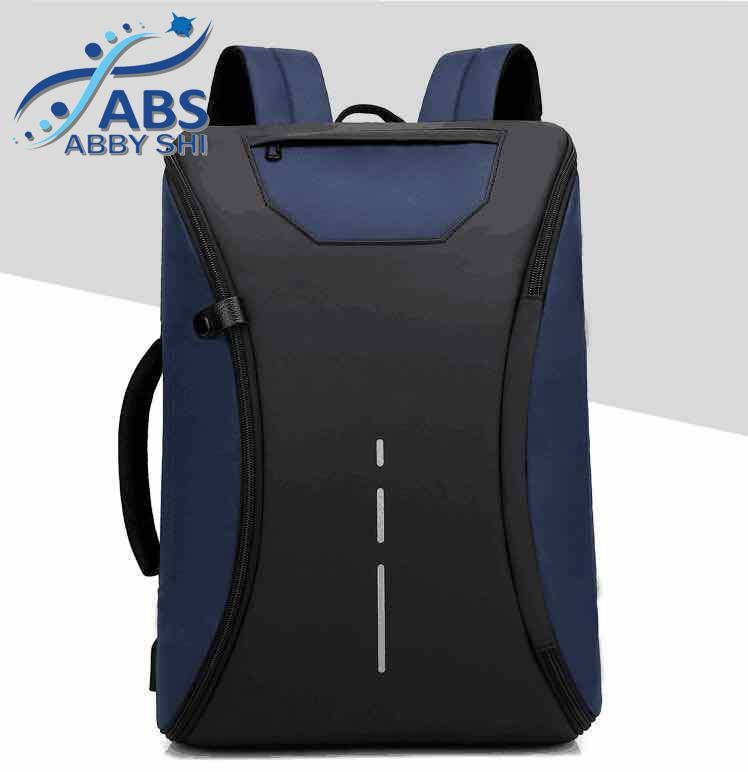 f2b096b88cef Abby Shi  1006 Fashion Waterproof 180 Degree Zipper Men Casual Business 15inch  Laptop Bag Function