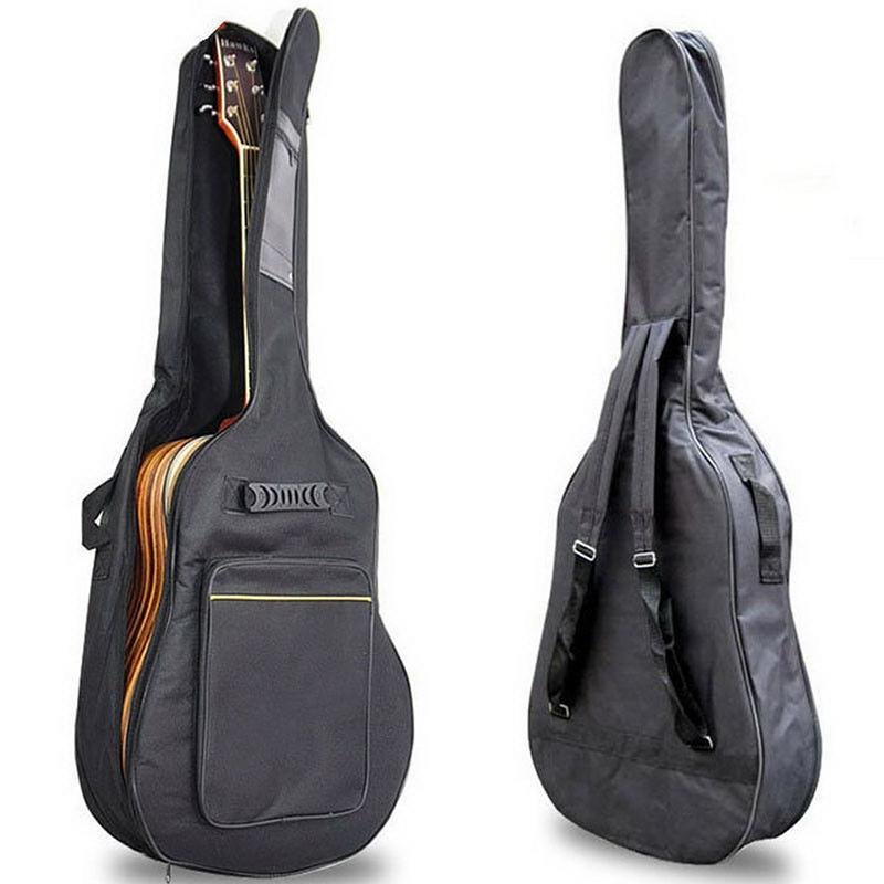 Thickening Backpack Double Straps Waterproof Acoustic Guitar Bag Pad Oxford Soft Case for 40/41 Inch Guitar Bag Malaysia