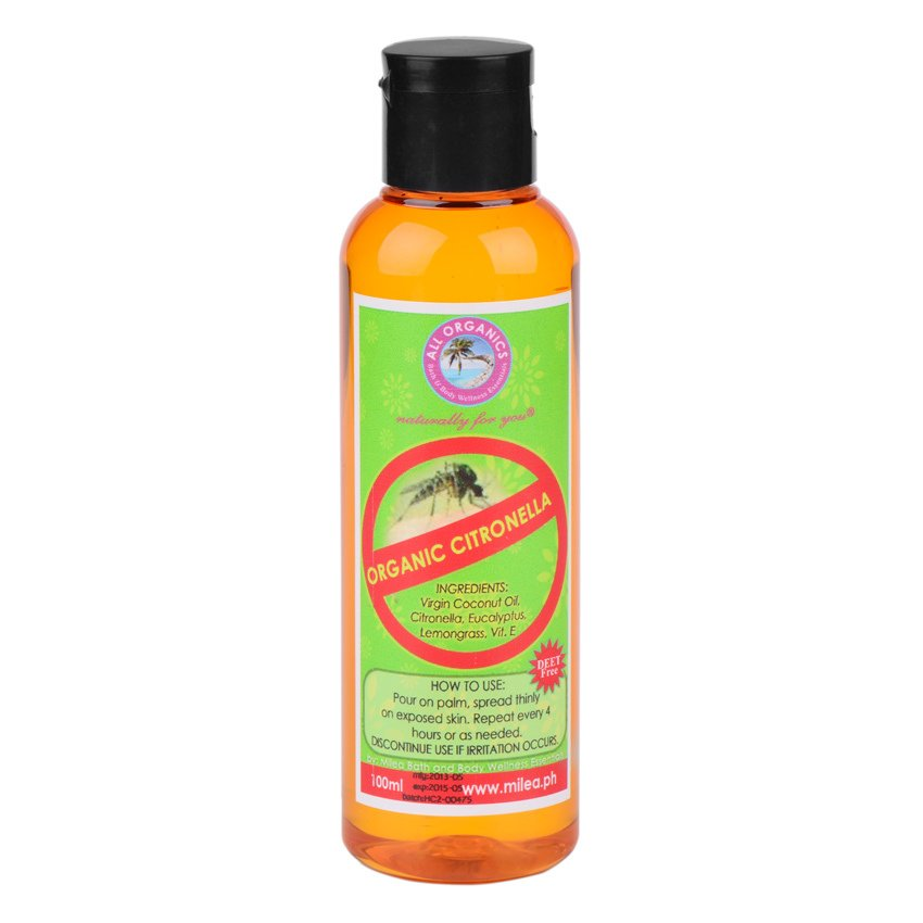 Milea All Organics Citronella Insect Repellent Oil 100ml