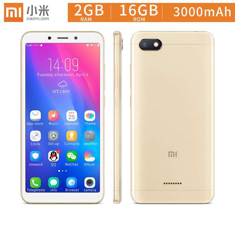Xiaomi Redmi 6A 5 45 inch 18:9 full screen Mobile Phone 1300 HD Cameras  2GB+16GB Smartphone
