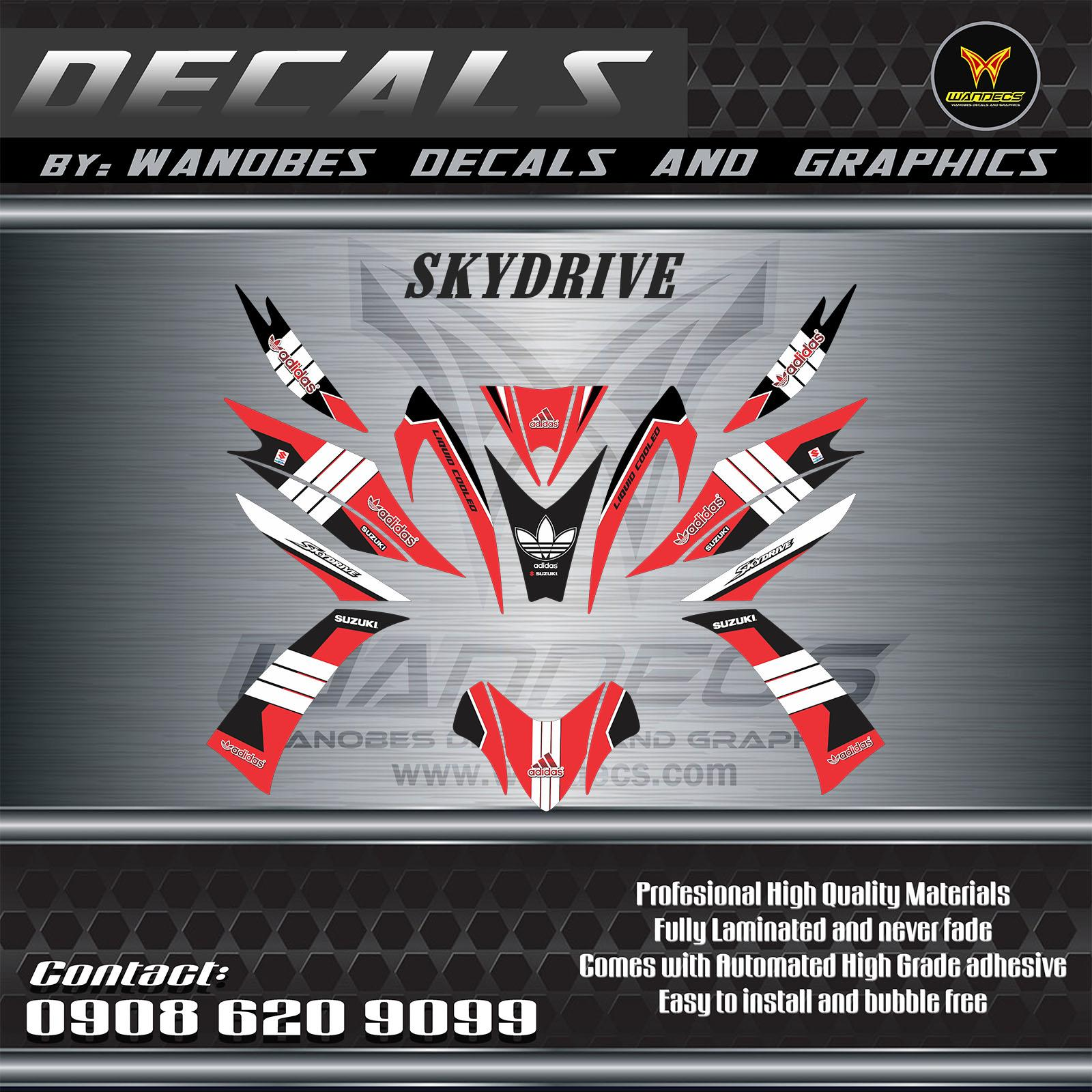 Suzuk Skydrive 125 Decals
