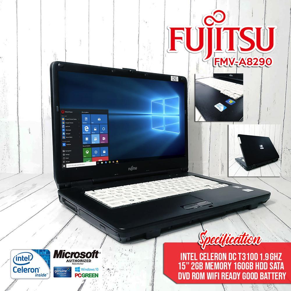 FUJITSU LAPTOP FMV-A8290 Intel celeron DC T3100 1 9Ghz / LAPTOP on sale /  student / online job [no windows]