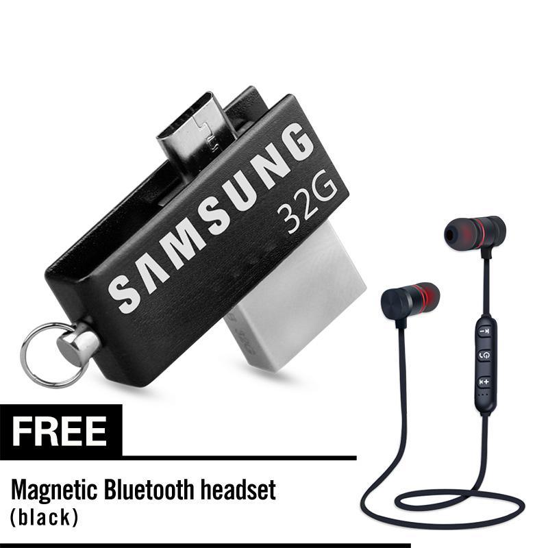 SAMSUNG 32GB USB 2.0 Swivel Flash Memory Stick Pen Drive U Disk for OTG Phone Laptop