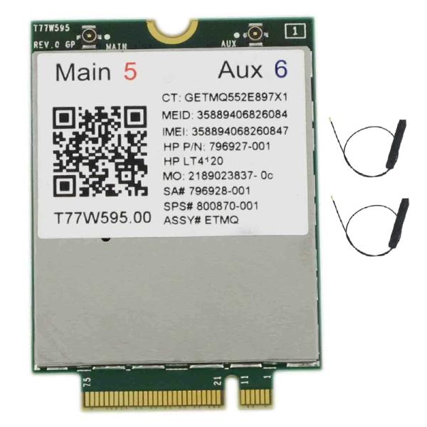 Bảng giá Lt4120 X5 LTE T77W595 796928-001 4G WWAN M.2 150Mbps LTE Modem for HP Elite X2 840 850 G3 640 650 645 G2 Silver Phong Vũ