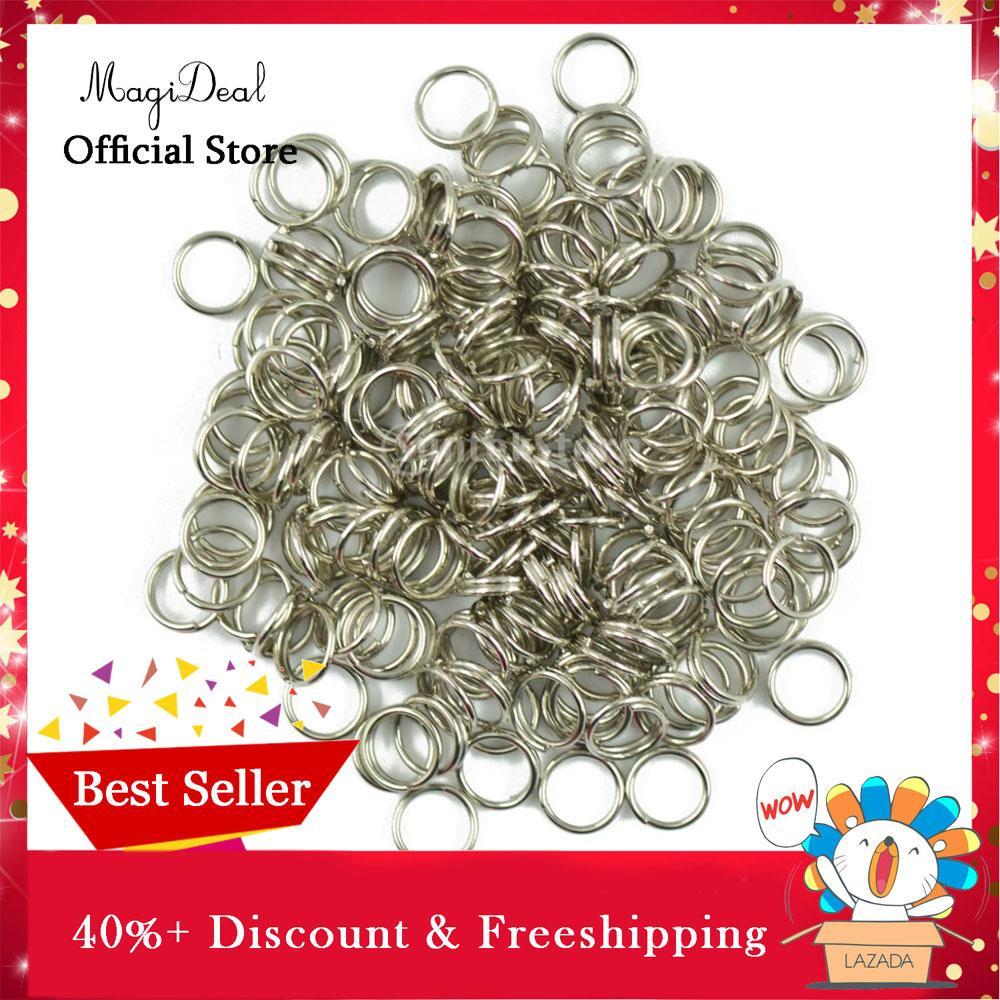 063a6f38fac9 MagiDeal Bulk 400pcs Silver Plated Split Key Ring Chain Loop Findings  Connectors - intl