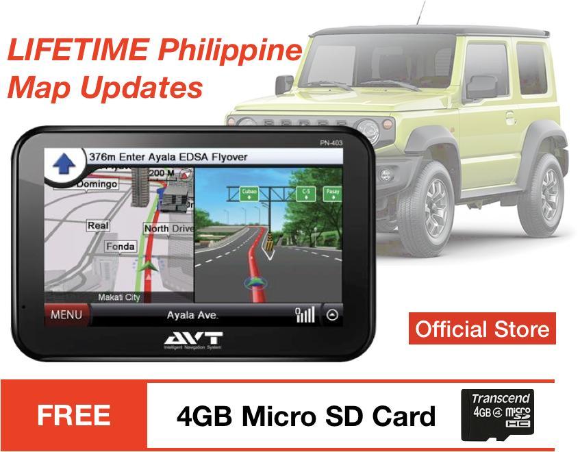 AVT Portable GPS Navigation Navigator Navi Touchscreen Lifetime Philippine  Map Update