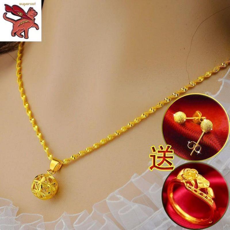 Khuyến mãi) Vòng cổ vàng siêu cho nữ Vòng cổ tang Vòng hoa rơi vòng đeo tay - Quốc tế