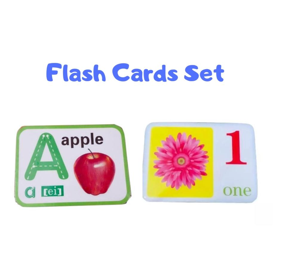 MnKC Alphabet ABC Letter and Numbers Flash Cards Set for Baby Toddler  Preschool Kids Early Educational Learning Materials