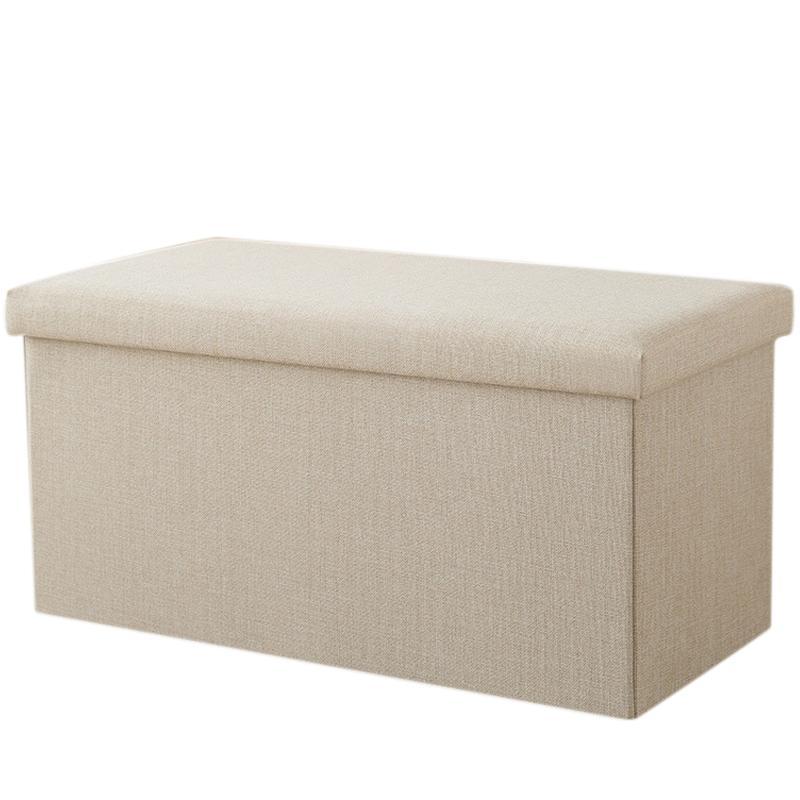 Rectangular Storage Stool Can Sit Adult Sofa Stool Household Storage Chair Folding Storage Box