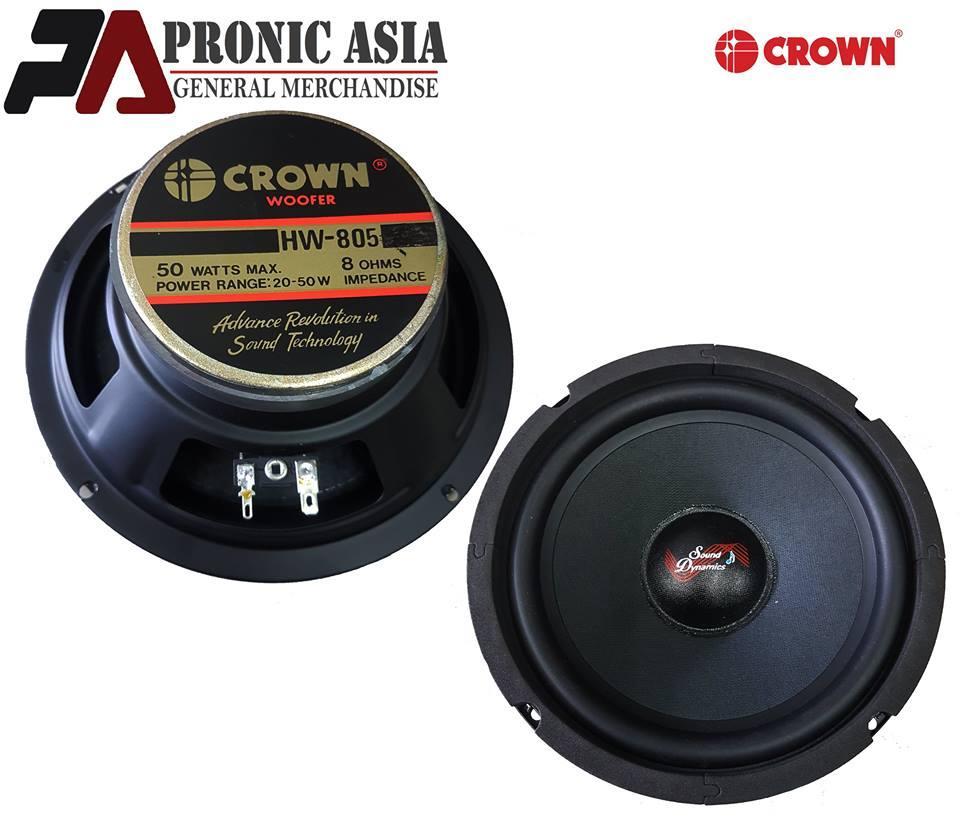 Crown Hw-805 8 Woofer Speaker W/ Free Screen By Pronic Asia General Merchandise.