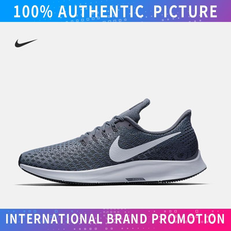 NIKE_AIR ZOOM PEGASUS 35 Sepatu Sneaker Unisex Jalan Kanvas Rendah Atas Untuk Mens Dan Womens Sepatu Skateboard (Hitam Putih)