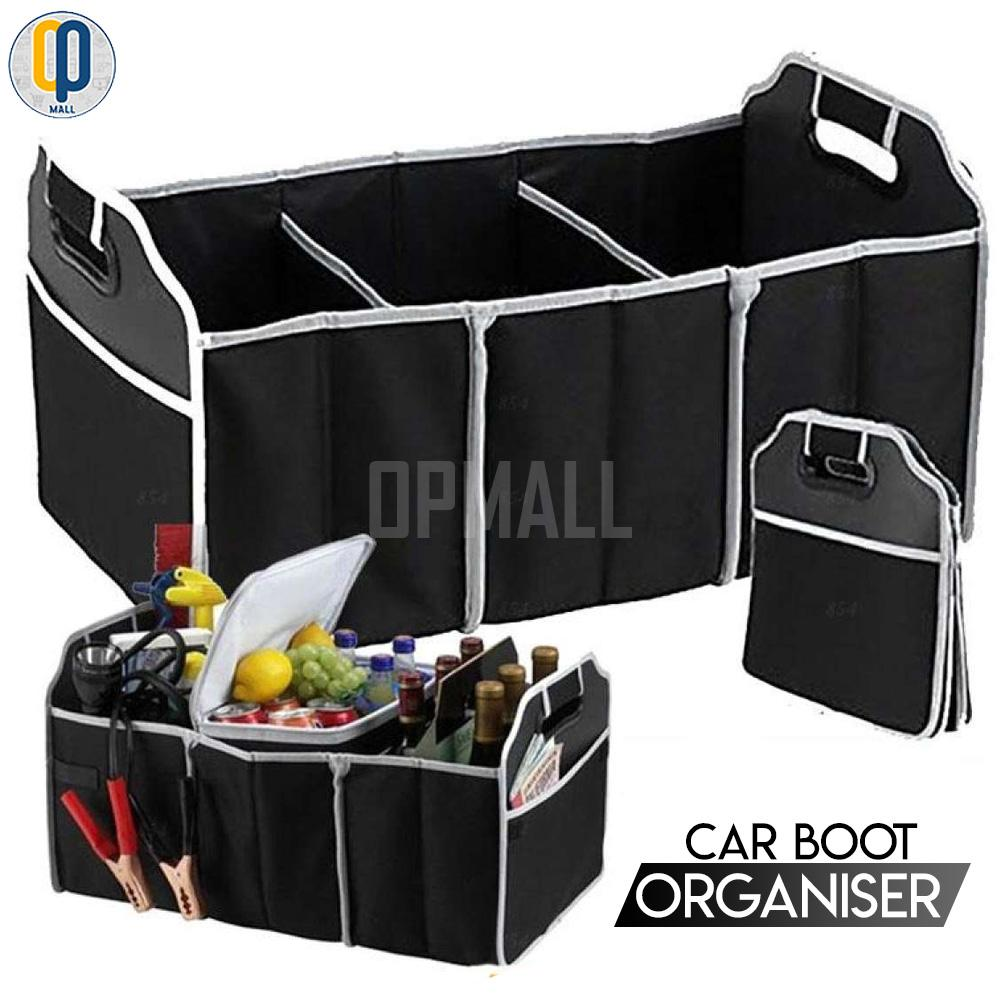 Car Boot Organizer Collapsible Storage Basket Foldable For Trunk By Op Mall.