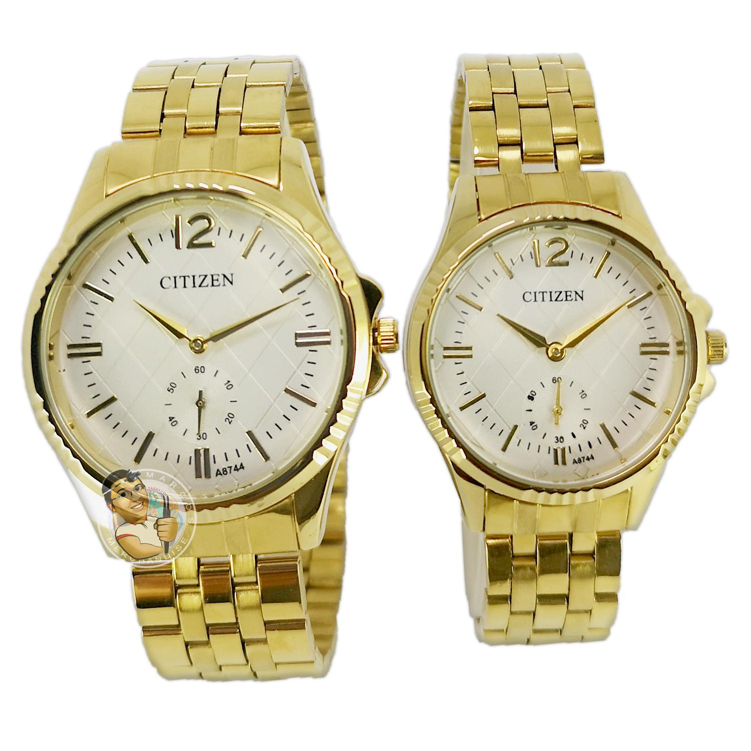 54b7d78ba Citizen GoldPlated Stainless Steel White dial for Couples Business Watch