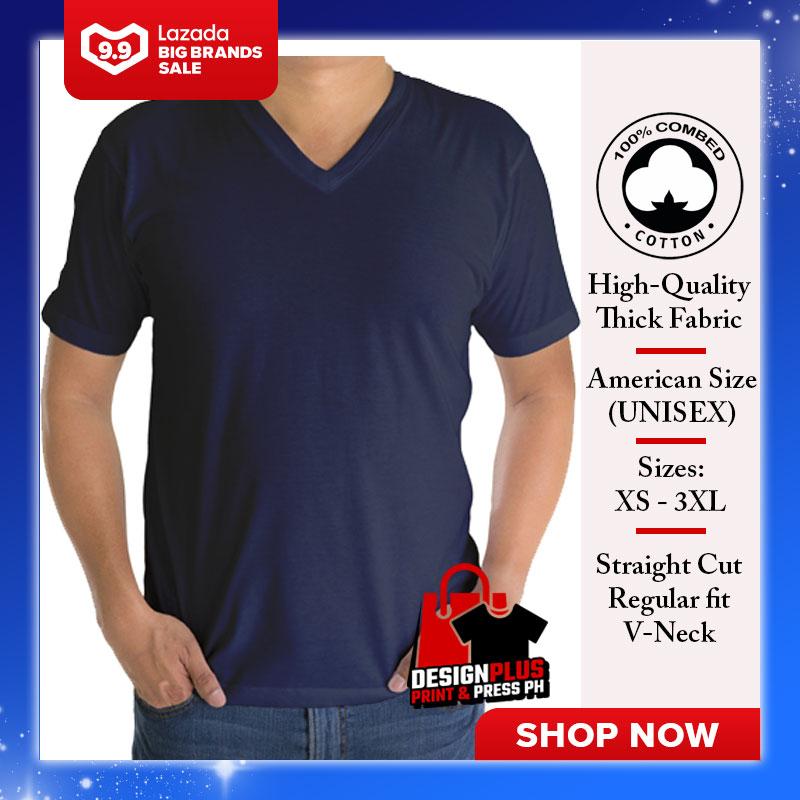 Designplus Active Life Plain V Neck Unisex T Shirt Navy Blue Shirt Tshirt Plain Tee Tees Mens Vneck T Shirt Shirts For Men Tshirts T Shirts Sale Plain V Neck Top Bestseller Lazada