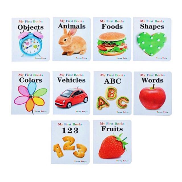 10 In 1 - My First Books Educational Books For Toddlers By Seasonaldeals.