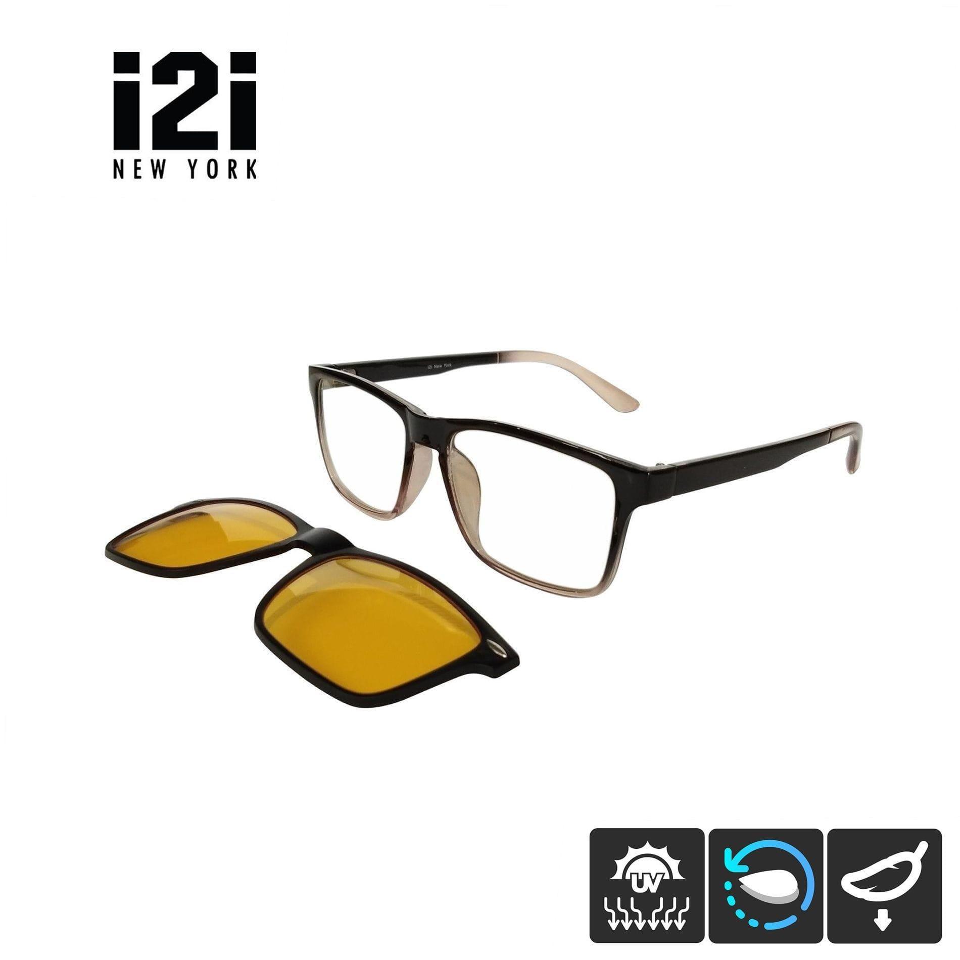 022ae0d315 i2i New York Burton 2 399 Magnetic Clip On Eyeglasses (Glossy   Gradient  Brown)