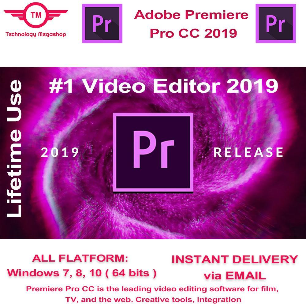 Adobe Premiere Pro CC 2019 Lifetime Activated
