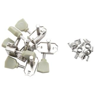 A Set 6 Pcs Jade Green Retro Trapezoid Button Locked String Tuning Pegs Key Tuner Machine Head for Guitar Lock Schaller Style thumbnail