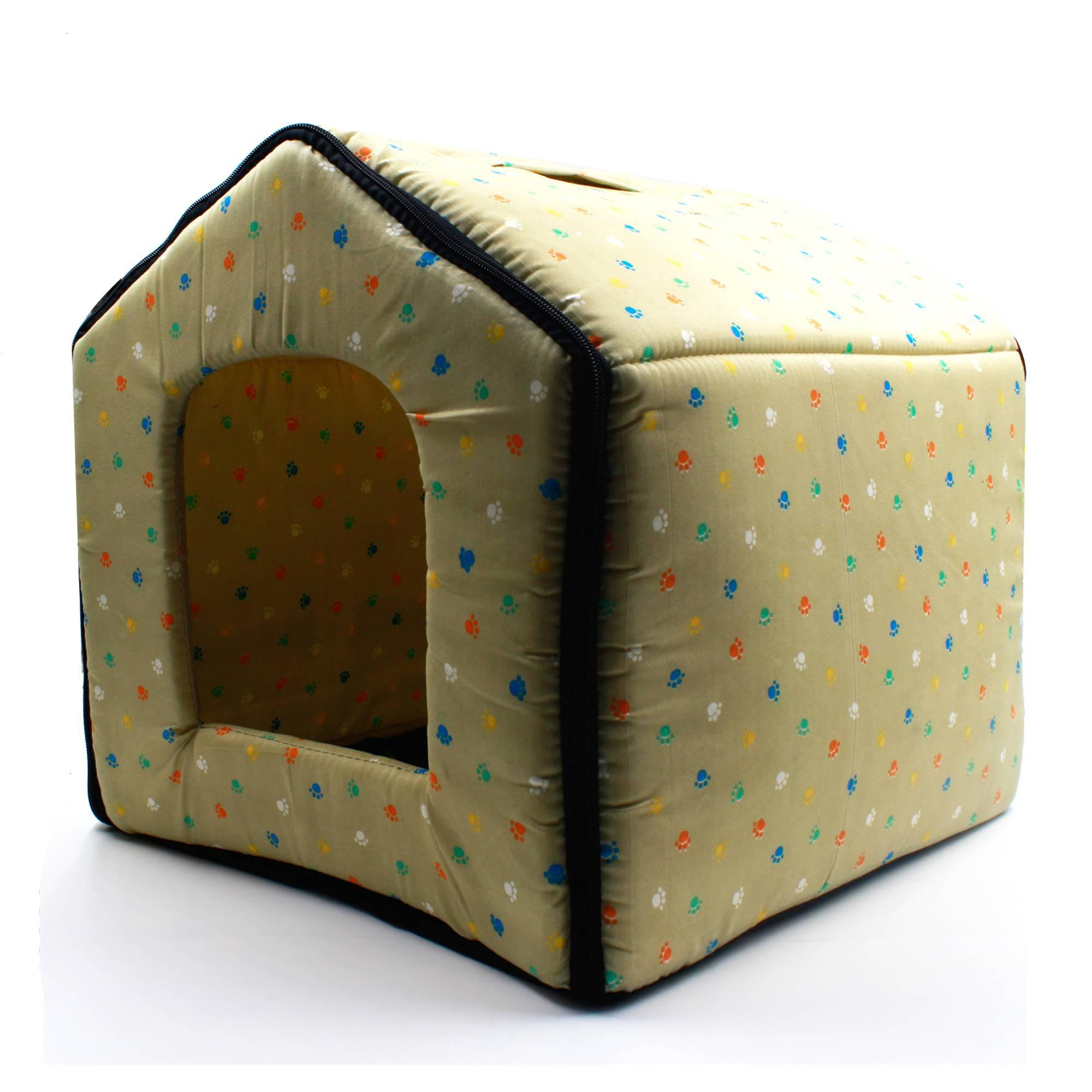 Digisoria Paws Pattern Pet Dog House (beige) By Digisoria.
