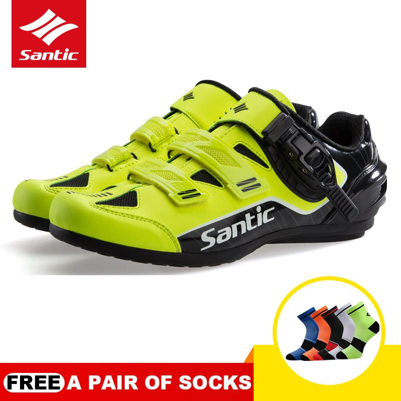 654fb189b Santic New PRO Men Cycling Shoes Non-locking Power Rotation Buckle Casual  Road Bike Bicycle