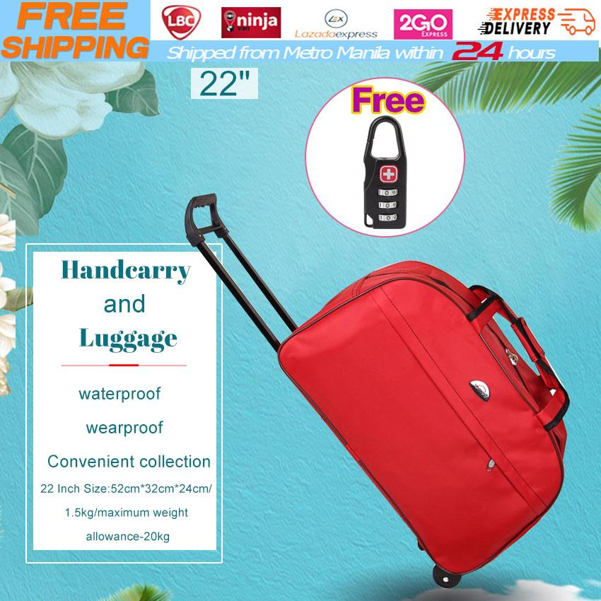 Free Luggage Lock 2018 New Trolley Bag Commercial Travel Fashion Luggage  Bags 22inch Rolling Duffle Bags Waterproof Shopping Travel Suitcases for ... e06b1c04a6ecc