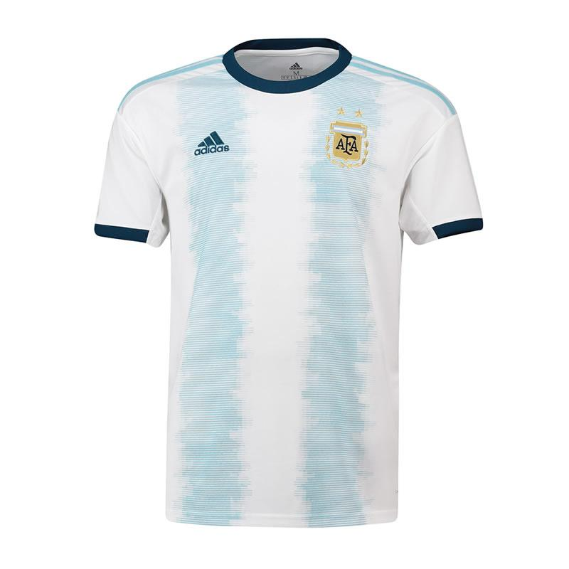 7ae4181a589 Argentina 2019 America'sCup football clothing Messi short-sleeved home  jersey