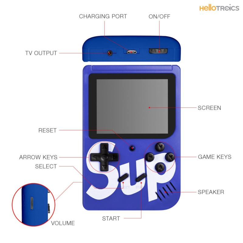 Sup Plus 400 Games in 1 Retro FC Handheld Portable Game Player Gameboy