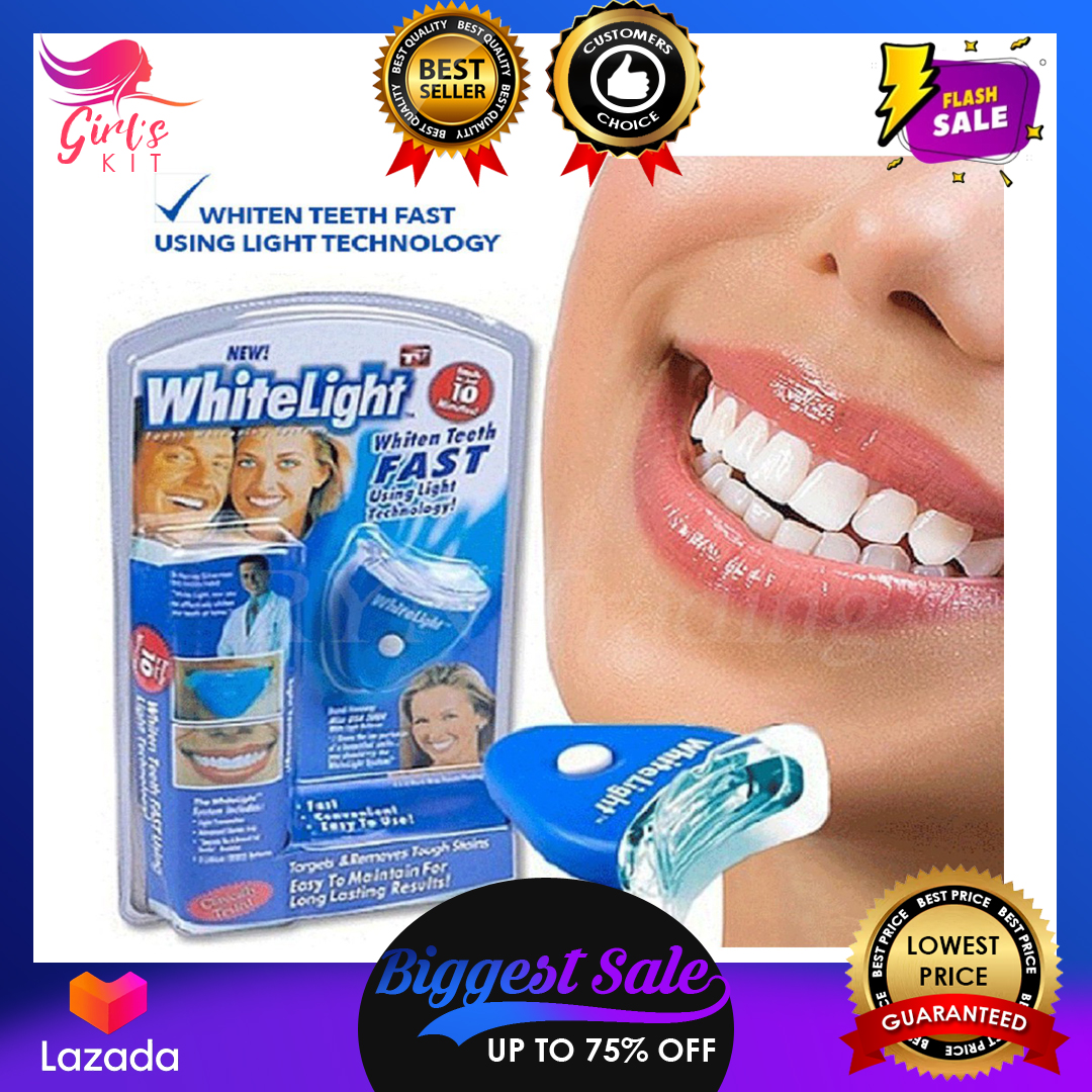 Authentic Professional White Light Teeth Whitening Kit With Led