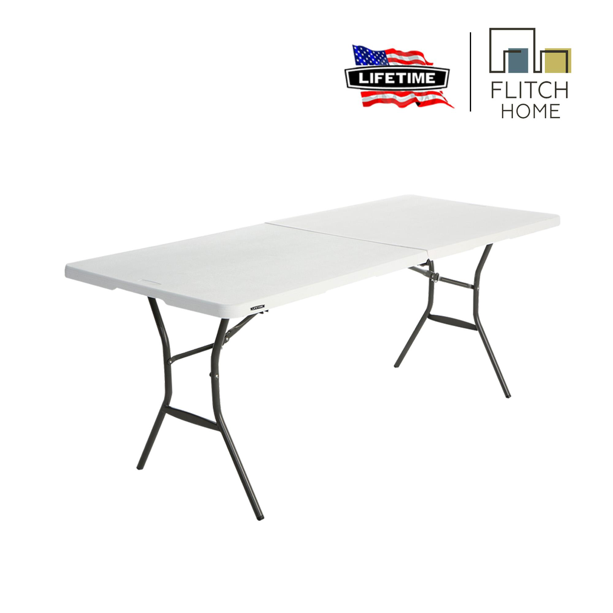 Lifetime 6 FT Fold-In-Half Table - White